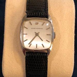 Girard-Perregaux Women's Watch with Black Leather